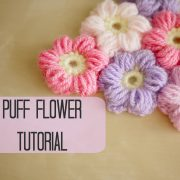 CROCHET: How to crochet a puff flower | Bella Coco