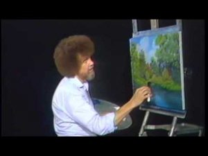 Bob Ross-themed birthday party, full of happy little trees, delighted the internet